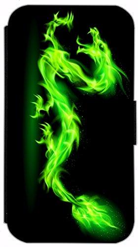 Flip Cover für Apple iPhone 4 / 4s Design 258 Totenkopf Skull Blau Hülle aus Kunst-Leder Handytasche Etui Schutzhülle Case Wallet Buchflip (258) 301