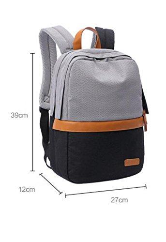 LQABW Sacchetto Dell'allievo Della Tela Di Canapa Coppia Computer Che Escono Zaino Daypack Esterno 20-35L,D D