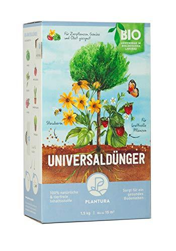 Plantura Bio Universaldünger mit 3 Monaten Langzeitwirkung, Pflanzendünger, für kraftvolle Pflanzen, 100% tierfrei & Bio, gut für den Boden, unbedenklich für Hund, Haus- & Gartentiere, Naturdünger - Bio-pflanze