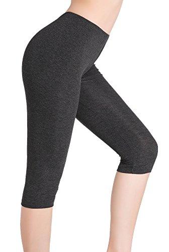 Damen Capri Leggins Kurz Unterrock Hose - Ultra Dünn Bequem Stretch Leicht