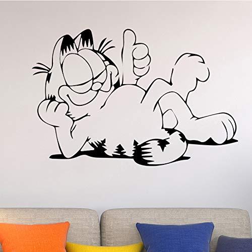 Cartoon Katze Wandaufkleber Für Kinderzimmer Zubehör Abnehmbare Vinylwanddekor Dekoration Selbstklebende Waterproo 58 cm X 87 cm