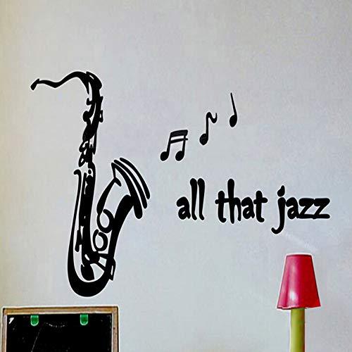 zqyjhkou All das Jazz Kindergarten Musik Studio Musik Symbol Tanz Kinderzimmer Abnehmbare Zimmer Wandkleber Wohnkultur Wand 103X56 cm