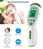 MEDITIVE Infrared Non-Contact Forehead Fever Thermometer for Baby Kids Infants and Adults Body/Surface/Room