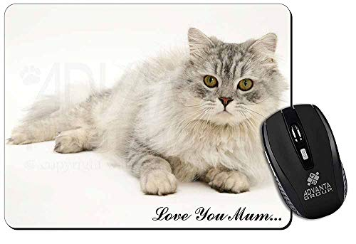 Chinchilla Perserkatze 'Love You Mum' Computer-Maus -Matte / pad Weihnachtsgesch -