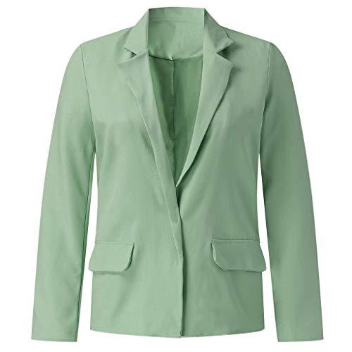 College Top 50 Kostüm - Setsail Damen Neues Top Lose Blazer Top Langarm Freizeitjacke Damen Büro Tragen Mantel Bequemes Bluse