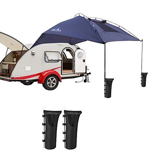 Preisvergleich Produktbild Auto Tail Account Zelt Folding Portable Shelter Anti-Uv-Auto-Markise Wasserdichtes Zelt mit 2 Stück Sandsack Zelt Pole Anker Geeignet für 3-4 Personen Outdoor Camping Strand Angeln