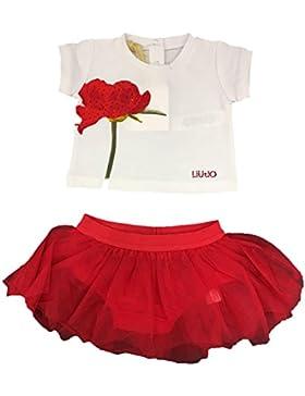 Liu Jo Neonato Bambina H18029 J0088 White Red Completo Primavera/Estate