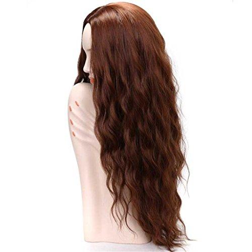 HJXJXJX Perücken Europa und die Vereinigten Staaten Mode Afrikanische schwarze Frauen in den braunen langen Haaren gefälschte Haar-Sets (Echte Perücken Graue)