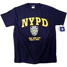 Policía T-camiseta de manga corta azul marino de vestir y auténtico de Clothing producto oficial de producto con licencia oficial de by The departamento de policía de Nueva York