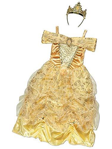 George Disney Prinzessin Belle Kinder Mädchen Fancy Kleid Kostüm Outfit