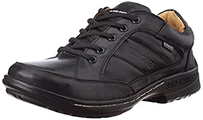 Redchief Men's Black Leather Trekking and Hiking Footwear Shoes - 10 UK (RC6013 001)