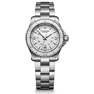 Victorinox Maverick–Reloj de Pulsera analógico para Mujer Cuarzo Acero Inoxidable 241699