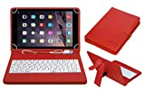 #1: ACM USB Keyboard Case for Apple Ipad Air 2 A1566 Tablet Cover Stand with Free Micro USB OTG - Red