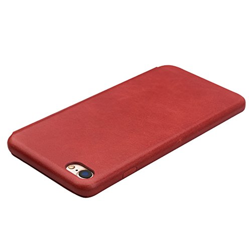 qialino Apple iPhone 7/7 Plus Leder Flip Case Flio Fall Hellbraun iPhone 7 case Light Brown iPhone 7 case Red