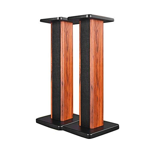 Standfüße Lautsprecherständer Monitorständer Bücherregal Lautsprecherständer Audioständer Bücherschrank Für Wohnzimmer Schlafzimmerregal - EIN Paar (Color : Wood Color, Size : 24 * 28 * 50cm)
