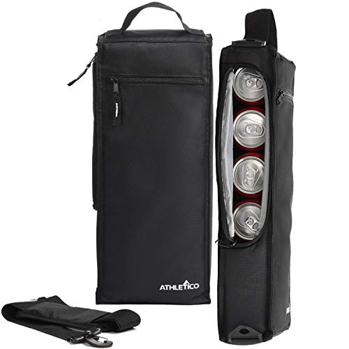 Athletico Golf Kühltasche - weiche Seiten, isoliert, für 6 Dosen oder 2 Weinflaschen schwarz -
