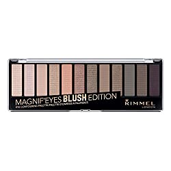 Rimmel Magnifeyes Eye Palette, London Nudes Calling, 0.5 oz., 12 Shades of High Shimmer, Blendable, Crease & Smudge Resistant Eyeshadow