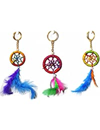Odishabazaar Dream Catcher For Car Or Home Wall Hanging Keychain Pack Of 3