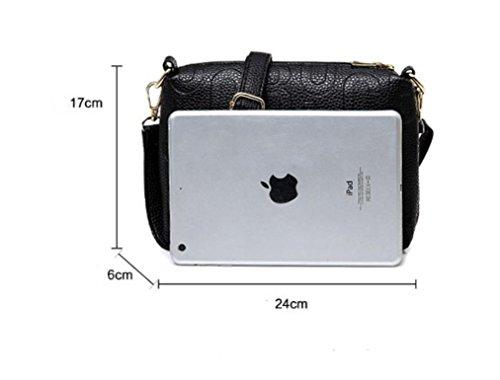 X&L Damen Mode Taschen drei Stücke multi-Farben Messenger Tasche Tasche Handtasche Black