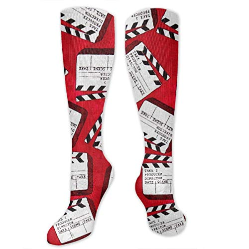 Xdevrbk Lights Camera Action Clap Board High Socks Long Socks Boot Stocking Compression Sports Socks for Women Men Action-nylon-boot