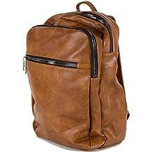 08e0204fc4 Zaino uomo lavoro vintage business ufficio elegante borsa a spalla donna  nero cuoio marrone grande quadrato
