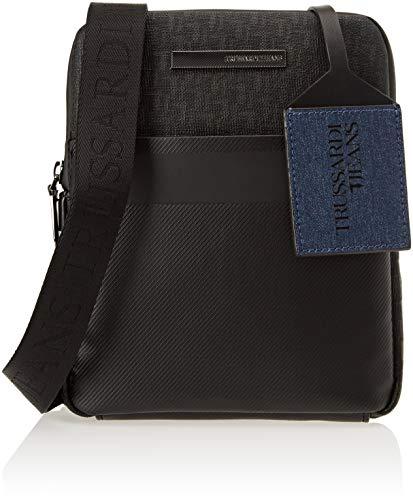 Trussardi Jeans 71B00082-9Y099999, Borsa Messenger Uomo, Nero, 19x22.5x3 cm (W x H x L)