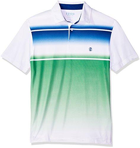 IZOD Men's Performance Golf Polo, Bright White, Large