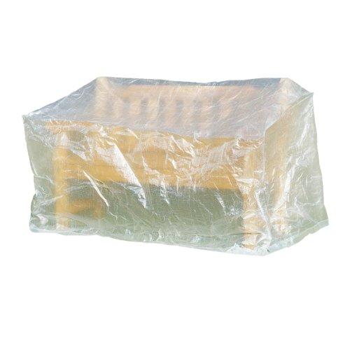Greemotion Schutzhülle für Gartenbank wasserabweisen mit Ösen, Transparent, 160x75x78cm
