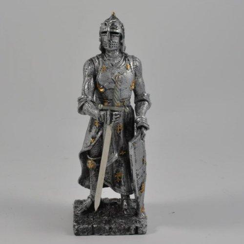 Vamundo Große Ritter Figur in Rüstung mit Schwert und Schild # Mittelalter