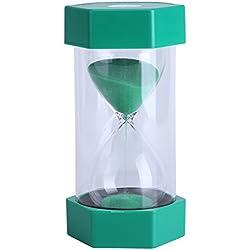Fdit Reloj de Arena 3/10/20/30/60 Minutos en casa, Oficina o como decoración Regalo 3 Minutos Amarillo Embalaje Reutilizable Socialme-EU.