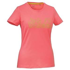 Jack wolfskin high density t-shirt pour femme logo t t-shirt pour femme XS Rouge - Rouge