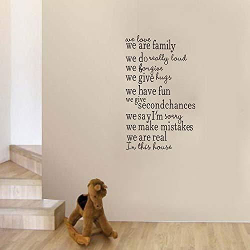 wandaufkleber 3d Wandtattoo Kinderzimmer Englisches Alphabet Wir sind Familie in diesem Haus Wandbild Art Decal Treppen Dekoration Wandbild für Wohnzimmer - Tiny Alphabet Sticker