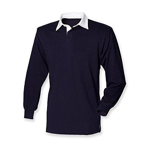 Front Row Herren Rugby-Shirt Classic Blau - Navy