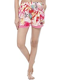 Vixenwrap Cute Floral Pink Cotton Printed Shorts