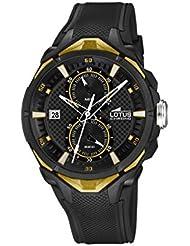 Lotus 18107/2 - Reloj de pulsera hombre, Caucho, color Negro