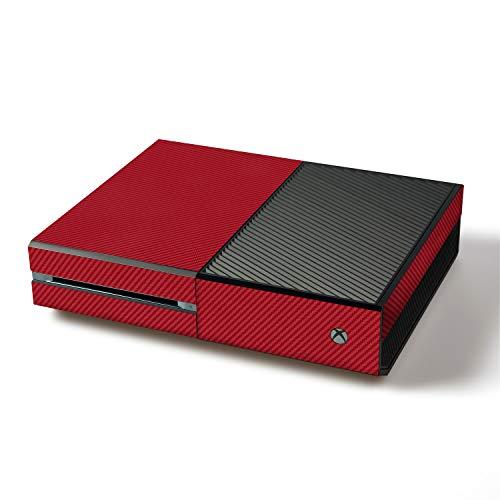 atFoliX Skin kompatibel mit Microsoft Xbox One, Designfolie Sticker (FX-Carbon-Red), Carbon-Struktur / Carbon-Folie (Xo Kostenlose)