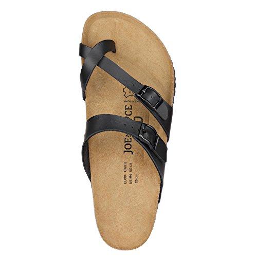 JOE n JOYCE Milano Synsoft. Un sandalo comodo che nasce con il motto: il troppo storpia Black