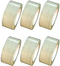 Aviyansh Enterprises Self Adhesive BOPP Tape/Sealing Tapes Pack of 6,Transparent Color 2 inch x 65 Meter- Use for Industrial & Office Box Packing B