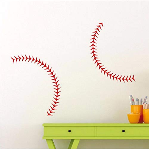 Baseball Stitches Wandtattoo 34 X 14