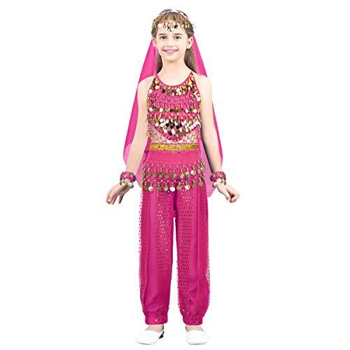 Zelda Kostüm Hot - Agoky Kinder Mädchen Bauchtanz Kostüme Set
