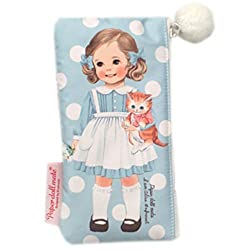 Afrocat Paper Doll Mate Pom Pom Pouch P Alice Blue Beauty Pencils Multi Purpose Case