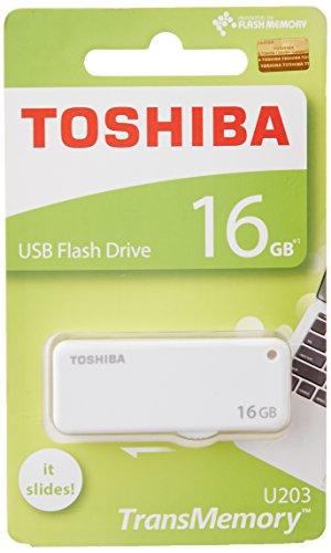 Toshiba TransMemory U203 USB 2.0 16GB Pen Drive (White)