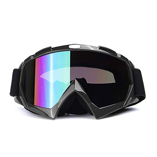 KnBoB Motocross Brille Verspiegelt Sonnenbrille Tactical Motorradbrillen Band Schwarz