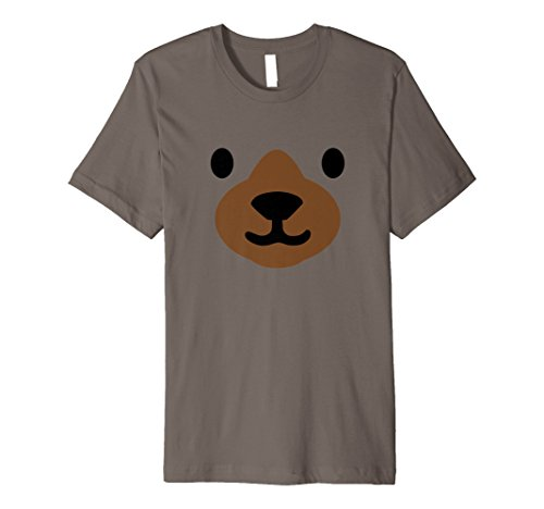 Bär Face Halloween-Kostüm Shirt Funny einfach für Kinder Erwachsene (Einfache Kinder Halloween Kostüm Ideen)