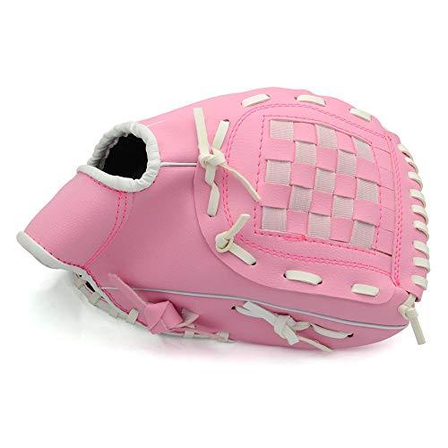 Sport & Freizeit Schlaghandschuhe Pitcher Baseball-Handschuhe mit einem Ball Softball-Handschuhe, für Kinder Erwachsene, rechte Hand werfen, Linke Hand Handschuh,Pink,11.5inch