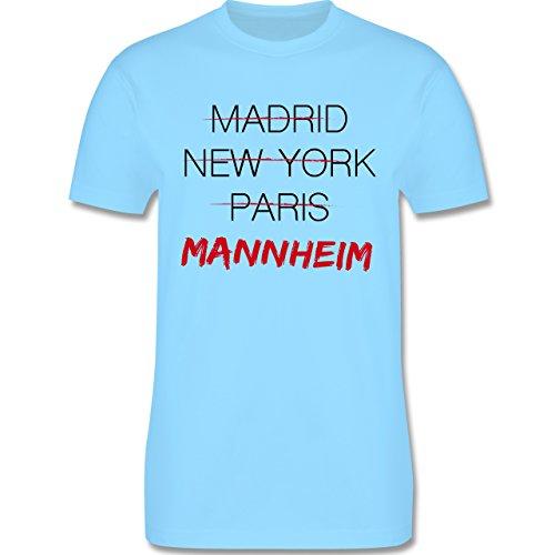 Städte - Weltstadt Mannheim - Herren Premium T-Shirt Hellblau