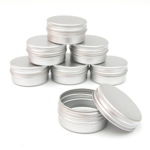 2x-aluminium-jar-pot-tin-container-15ml-for-nail-art-makeup-cosmetic-travel-creams-lip-balm-tattoos