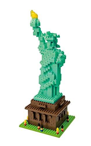nanoblock NBM-003 - Statue of Liberty / Freiheitsstatue, Minibaustein 3D-Puzzle, Middle Series, 650 Teile, Schwierigkeitsstufe 4, sehr schwer
