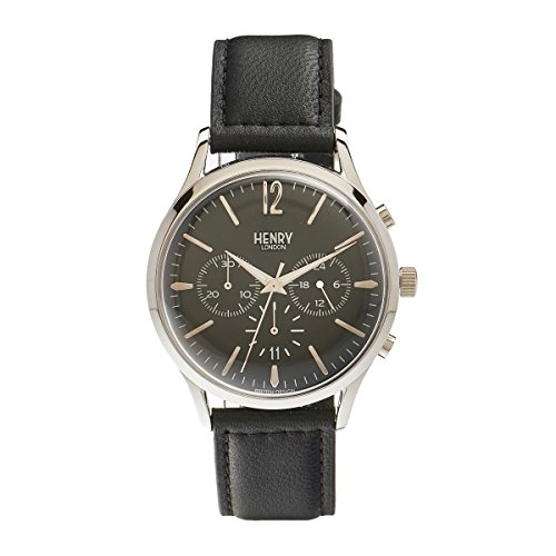 Henry London Unisex-Armbanduhr Edgware Chronograph Quarz Leder HL41 - CS-0023