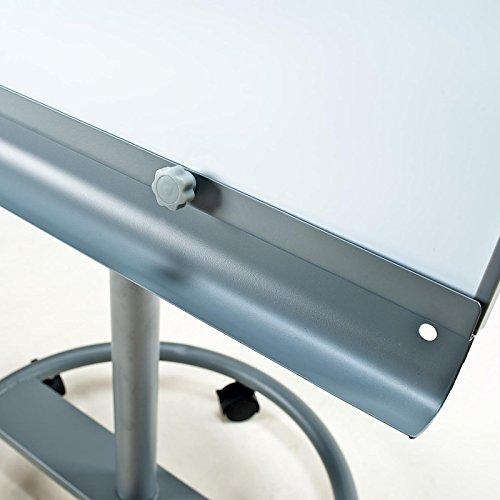 Office Marshal® Flipchart mit mobilem Fußkreuz und zwei Seitenarmen | stufenlos höhenverstellbar -